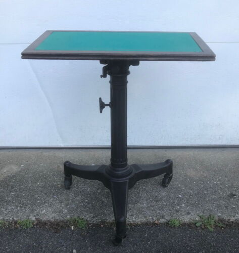 Vintage Industrial Table- Adjustable Cast Iron Typewriter Stand