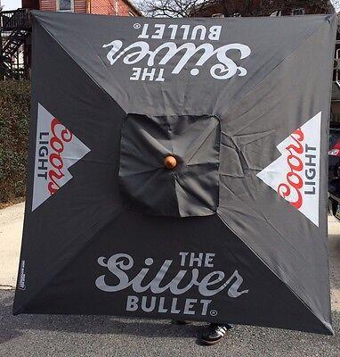 Coors Assault Beer Umbrella Pool Beach Patio Bar Pub Man Cave 7' Tall New In Box!