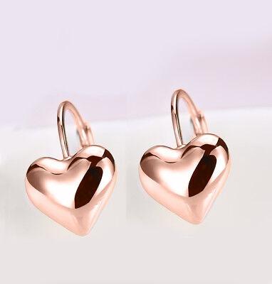 Heart Titanium Earrings - Rose Gold Titanium Stainless Steel Square Heart Cut Stud Earrings 6mm Gift PE9