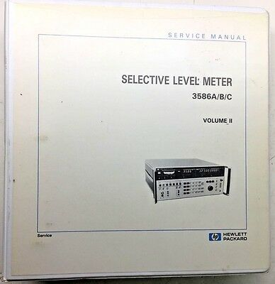 Hp 3586abc Selective Level Meter Service Manual Volume 2 Pn 03586-90002