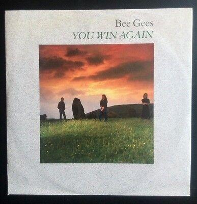 BEEGEES - YOU WIN AGAIN / BACKTAFUNK                ORIGINAL UK 7'' vinyl single