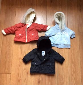 Infant winter coats - 0-6 months