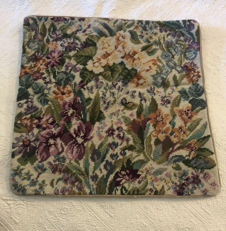 "NWT Needlepoint 18x18"" Throw Toss  Pillow Covers"