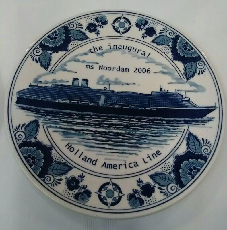 Holland America Line Inaugural Noordam 2006 Plate