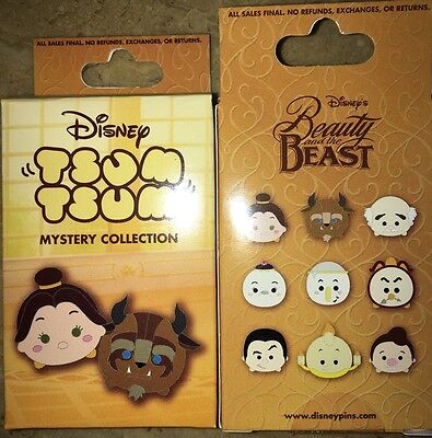 Disney Tsum Tsum Beauty And The Beast Mystery Collection 2 pin In Box