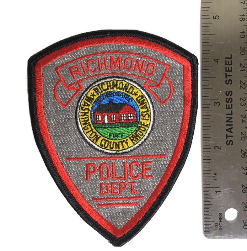 RICHMOND RHODE ISLAND POLICE PATCH INCORPORATED 1747 RI