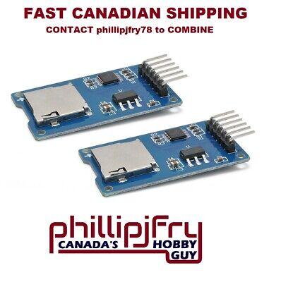 2pcs Micro Sd Storage Board Mciro Sd Tf Card Memory Shield Module Spi. Arduino.