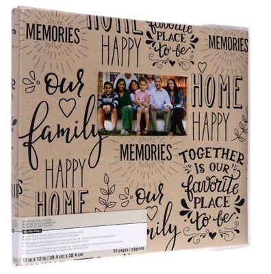 """Family Memories Scrapbook Album 12"""" x 12"""" by Recollections - 12x12 Scrapbook"""
