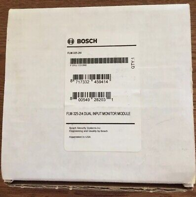 Bosch Flm3252i4 Dual Input Monitor Module With Led Fire Alarm