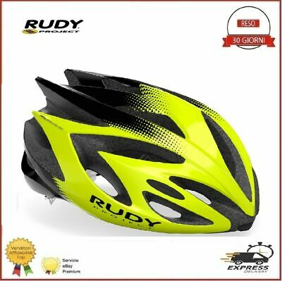 Casco Bici Rudy Project RUSH Ciclismo Corsa Mtb Yellow Fluo Black M...