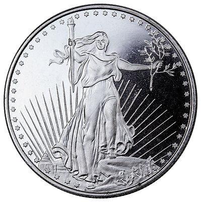 Highland Mint 1 oz .999 Fine Silver Saint-Gaudens Design Round SKU45168