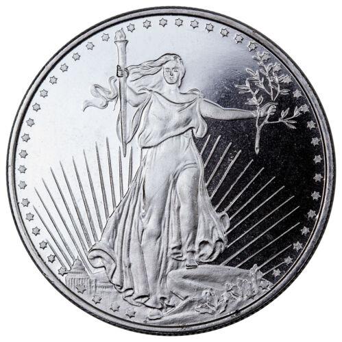 Deal! Highland Mint 1 oz .999 Fine Silver Saint-Gaudens Design Round SKU45168