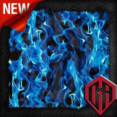 HYDROGRAPHIC WATER TRANSFER HYDRODIP FILM HYDRO DIP BLUE REAL FIRE FLAMES 1 SQ M
