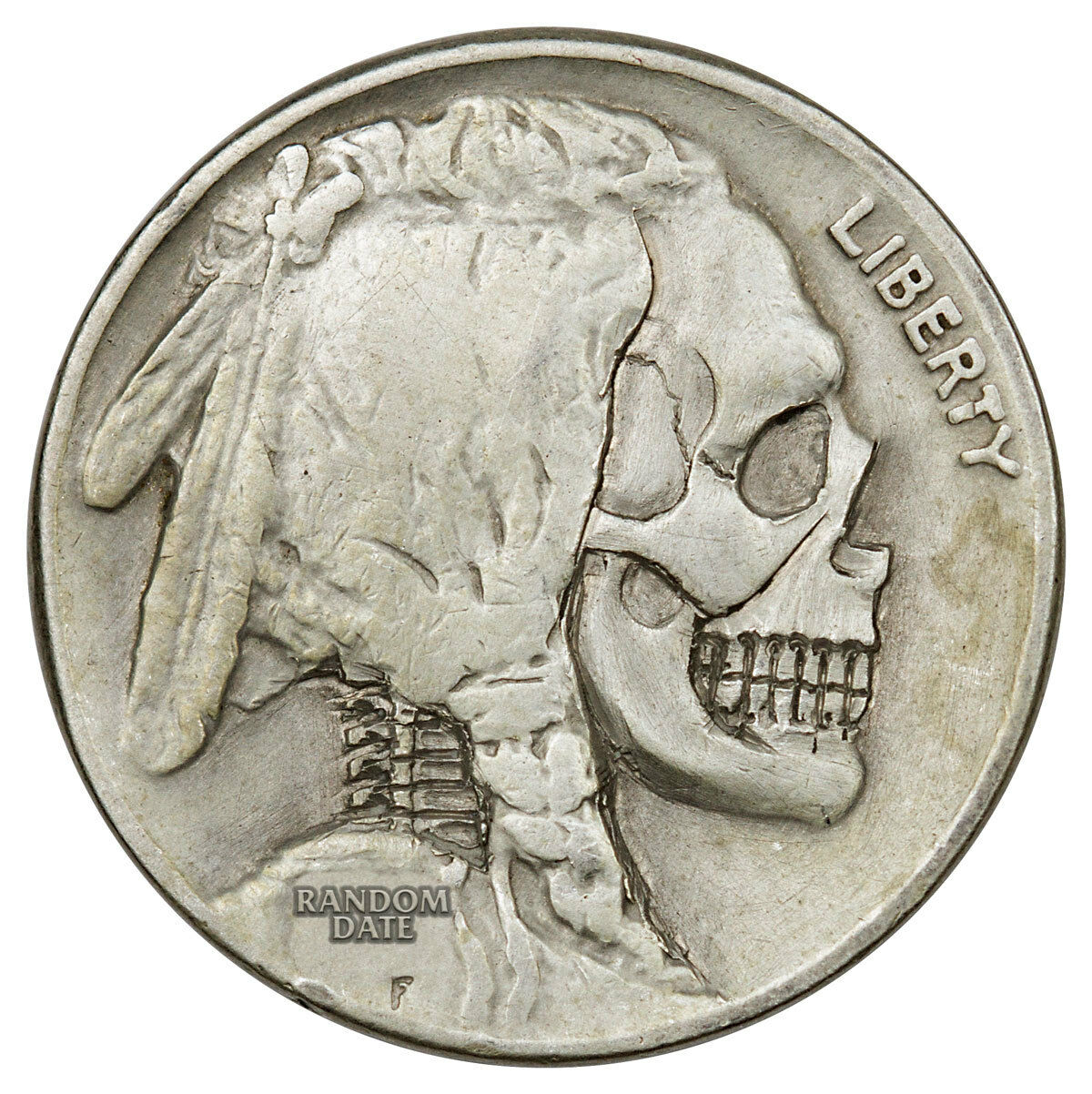 Random Date 1913-1938 Hobo Nickel - Skull SKU44843