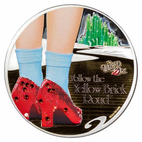 2017 Cook Is Wizard Oz Yellow Brick Road Swarovski HR 1 oz Gilt Silver SKU57630