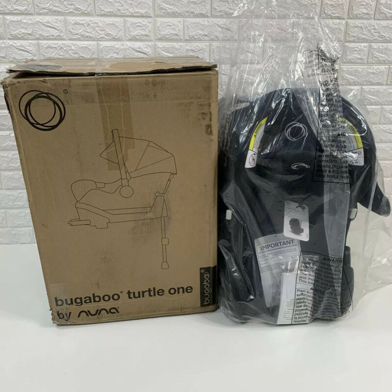 NIB $340 Bugaboo Turtle One by Nuna Infant Car Seat and Base, CF11901BLKBGB 2020