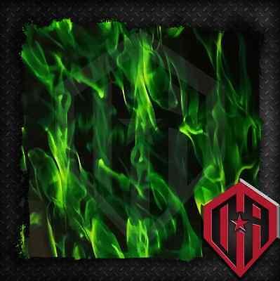 HYDROGRAPHIC WATER TRANSFER HYDRODIP HYDRO FILM HYDRO DIP GREEN FLAMES 1 SQ M
