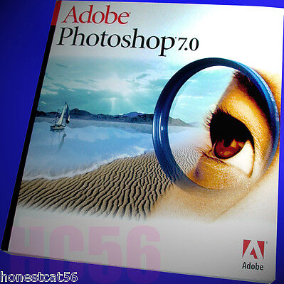 Own It  Full Orig  Adobe Photoshop 7 0 1 Software Win 98  2000  Xp  7 10