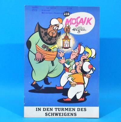 Mosaik 219 Digedags Hannes Hegen Originalheft   DDR   Sammlung original MZ 4