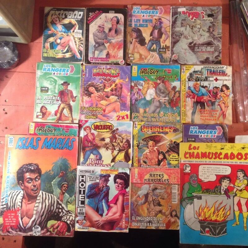 Mexican Comics Lot Of 17, Spanish, Made In Mexico