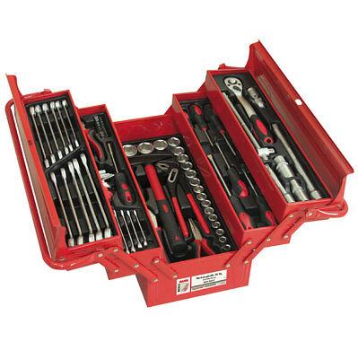 ERBA Metall Werkzeugkasten Werkzeugkiste Werkzeugkoffer 86 tlg.