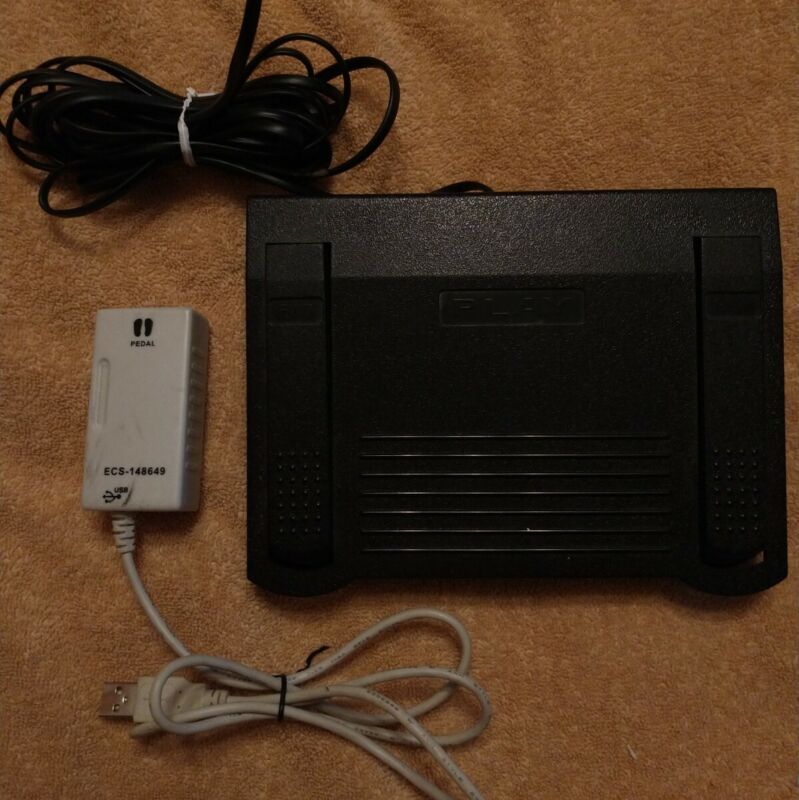 Dictaphone 0502765 Transcription Foot Pedal and Dictaphone 148649 USB Adapter