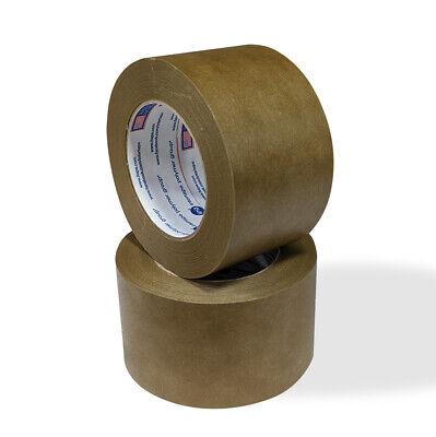 16 Rolls Flatback Kraft Brown Paper Packaging Packing Tape 5.5 Mil 3x60 Yards