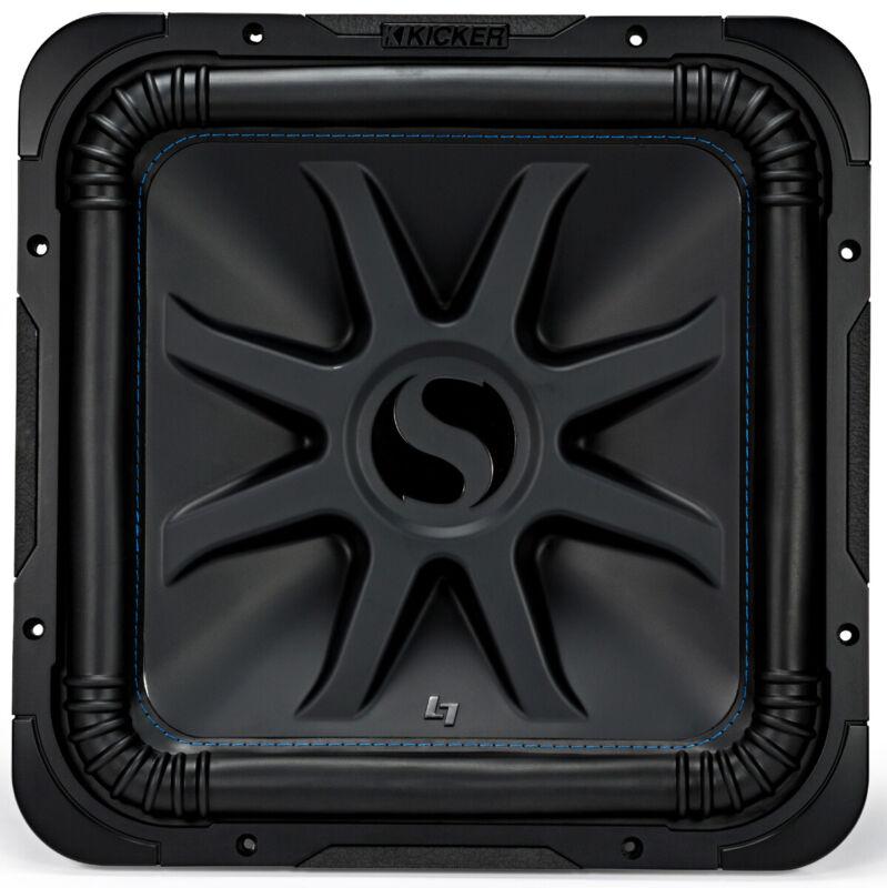 "Kicker L7S15 Car Audio Solobaric 15"" Subwoofer Square L7 Dual 4 Ohm Sub 44L7S154"