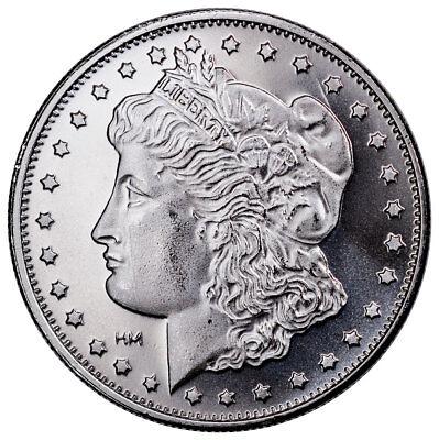 Highland Mint Morgan Dollar Design 1 oz Silver Round-25% Rotated Die SKU51951