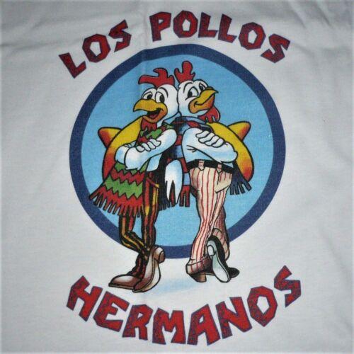 BREAKING BAD  -  LOS POLLOS HERMANOS  -  RINGER  T-SHIRT  100%  PRESHRUNK COTTON