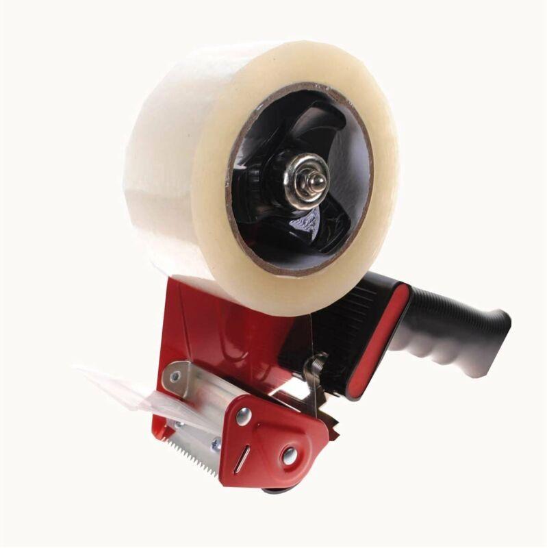 One Packing Tape Gun Plus One 110 Yard Packaging Tape 2 Inch Industrial Grade