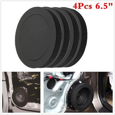 4Pc 6.5 inch Car Door Audio Speaker Bass Soundproof Foam Ring Insulation...