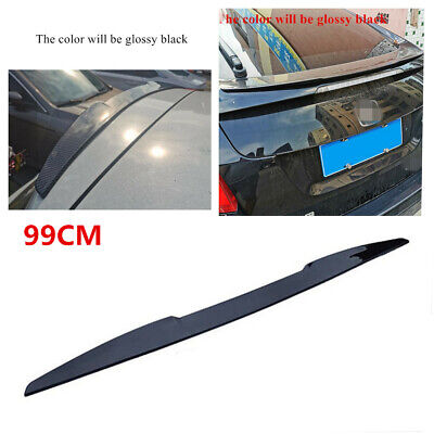 99CM Car Rear Wing Bonnet Rubber Lip Spoiler Tail Roof Trunk Boot Trim Stickers