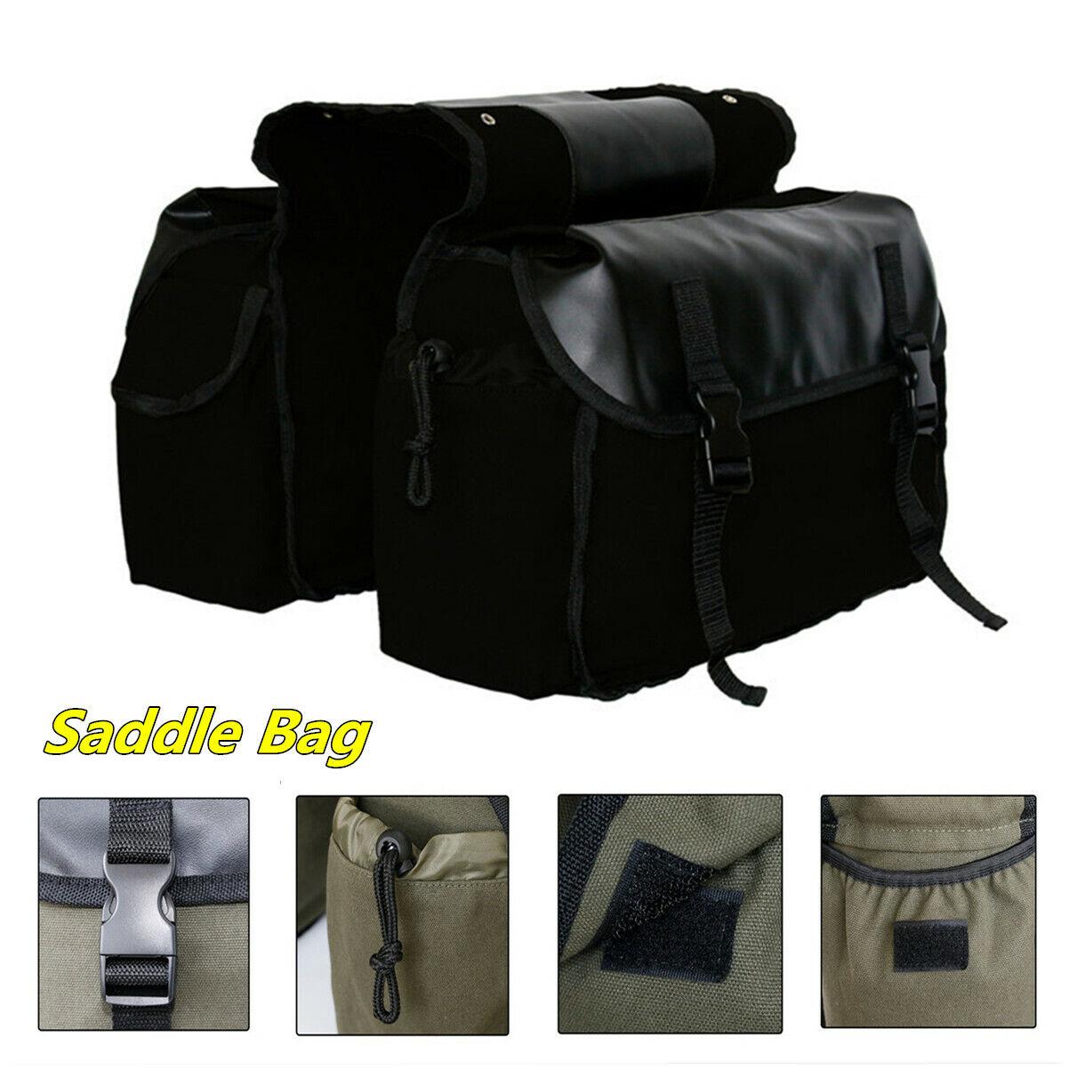Waterproof Saddlebags Motorcycle Rear Rack Tail Seat Side Saddle Bag Luggage
