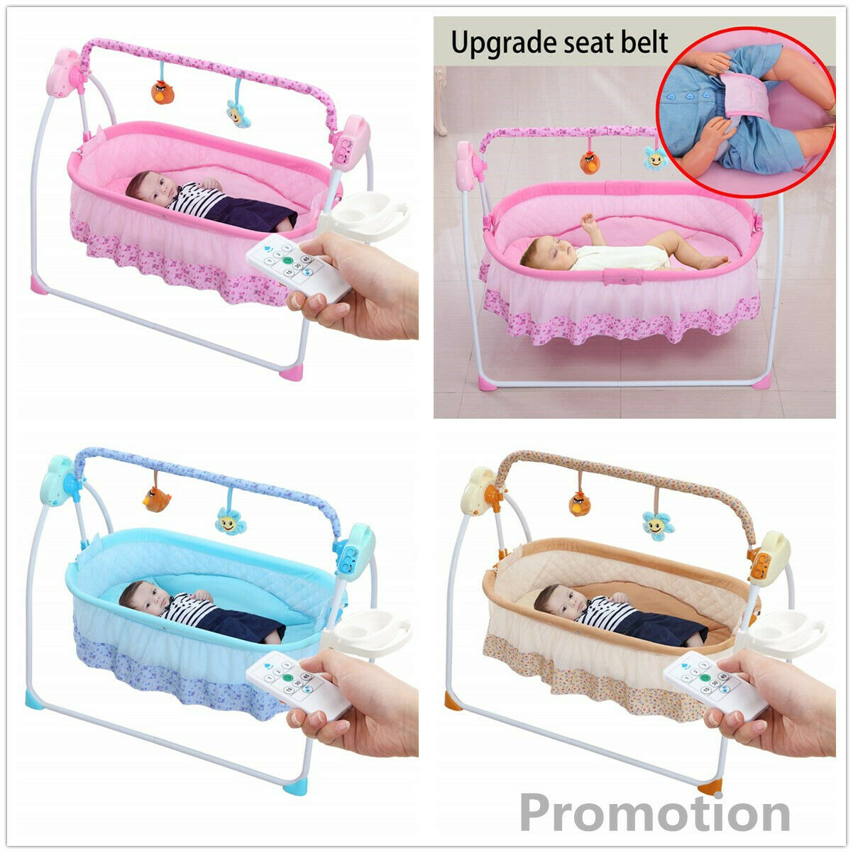 Baby Cradle Swing,Automatic Baby Bassinets Swing Crib for Ba