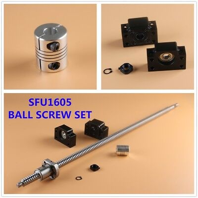 Sfu1605 Cnc Ball Screw Set Nut Bkbf12 End Supports Couplers L300-2000mm