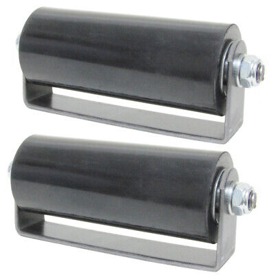 """6"""" Sliding Gate Guide Roller Hard Rubber Roller With Removable Axle Bolt Pair"""