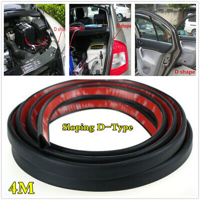 Sloping D-Type Car Door Hood Trunk Edge Rubber Sound Waterproof Seal Strip