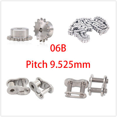 Stainless Steel 10-30 Tooth 06b Chain Drive Sprocket Roller Chain Chain Links