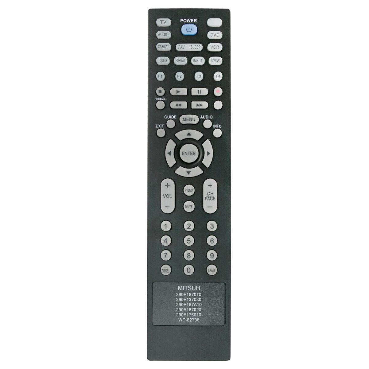 New 290P187A20 290P187020 Replaced Remote for MITSUBISHI TV