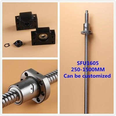 Ball Screw Sfu1605 300-2000mm End Machine With Ballnut Bk12bf12 End Support