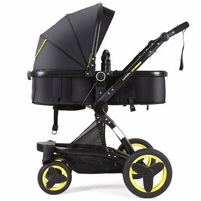 Infant Toddler Baby Stroller Carriage Cynebaby Compact Pram Strollers(Yellow)