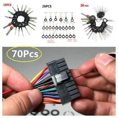 70xCar Electrical Wiring Crimp Connector Pin Extractor Terminal Removal Tool Kit
