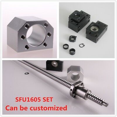 Ball Screw Sfu1605 Rm1605 End Machined Bkbf12 Ballscrew Nut Housing Set