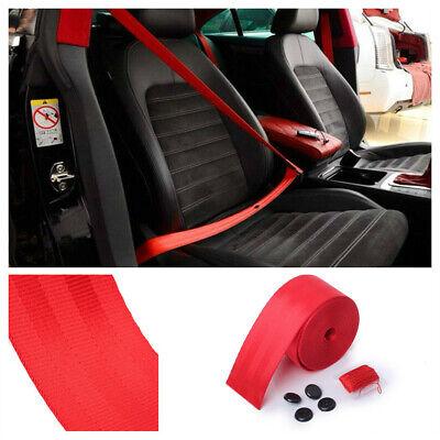 3 Point Car Seat Belt Webbing Polyester Seat Lap Polyeste Fiber Safety Strap Red