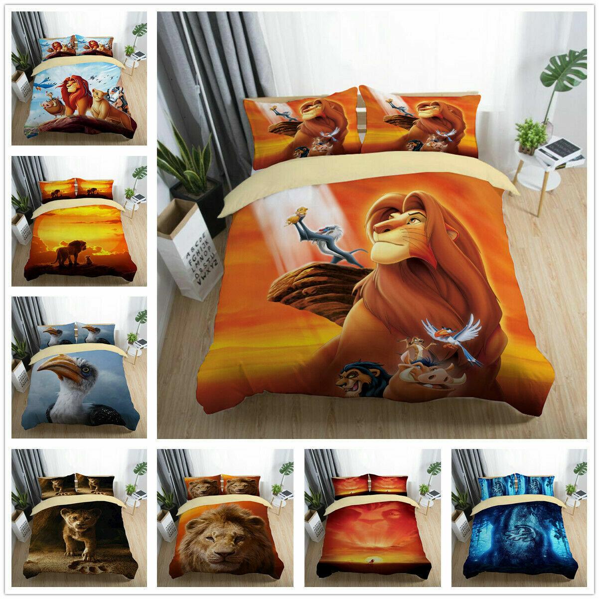 3D Disney The Lion King Bedding Set Duvet Cover Pillow Shams