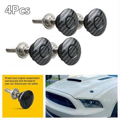 Car Bonnet Catch Push Button Quick Release Hood Pins Latch Protectors Lock Set