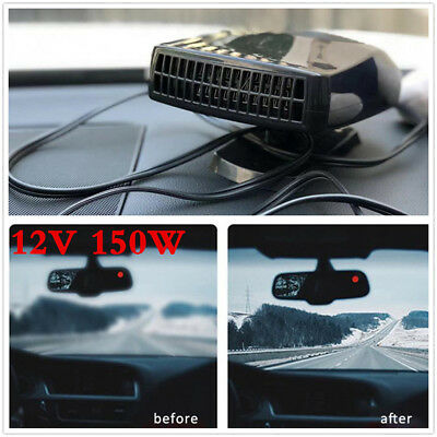 Black 12V 150 Watt Car Van Fan Heater Blower Demister 12 Volt Sealed & New Truck