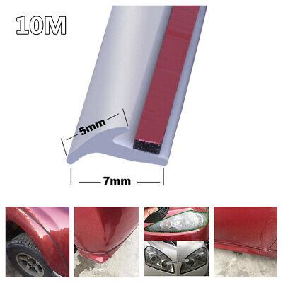 Slanted T-Type Seal Weather Strip Edge Trim Car Bumper Lip/Side Skirt Headlight