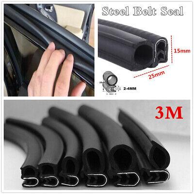 Universal Rubber Steel Belt Seal Car Doors Hood Trunk Bonnet Edge Weatherstrip